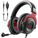 EKSA E900 Wired Stereo Gaming Headset-Over Ear Headphones with Noise Canceling Mic, Detachable Headset Compatible with PS4, Xbox One, Nintendo Switch, PC, Mac, Laptop(Red)…